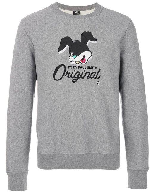 PS by Paul Smith | Gray Rabbit Print Sweatshirt for Men | Lyst