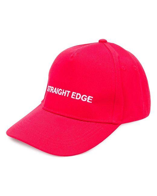 5ac9b7483 Men s Red Slogan-detail Cap