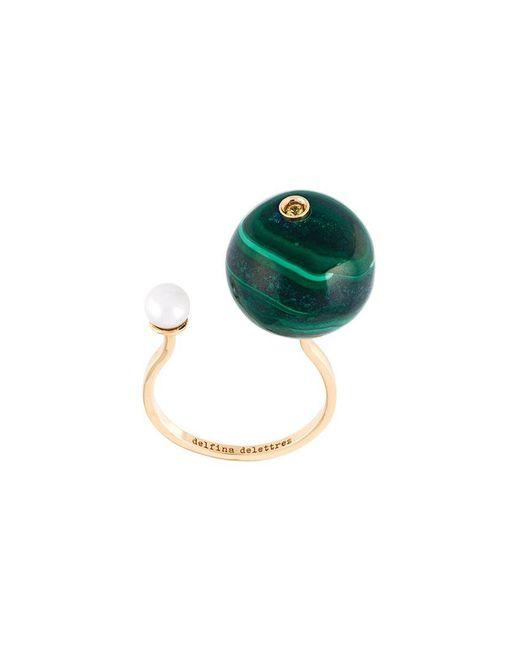 Delfina Delettrez - Metallic 'stone-edge Piercing' Sapphire Ring - Lyst