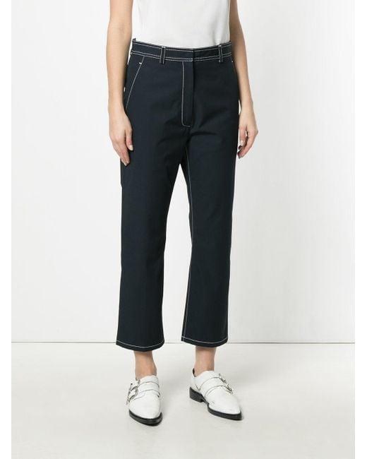 contrast stitch trousers - Blue Thom Browne Visa Payment Online VUQoRdQ7