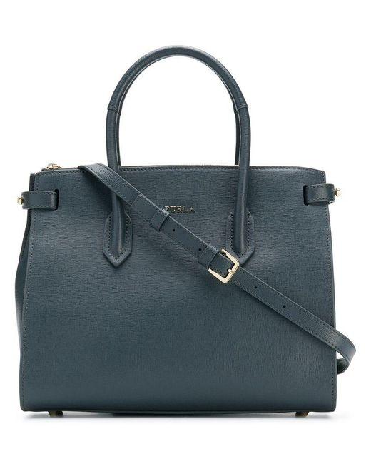 Furla - Gray Pin Small Tote Bag - Lyst