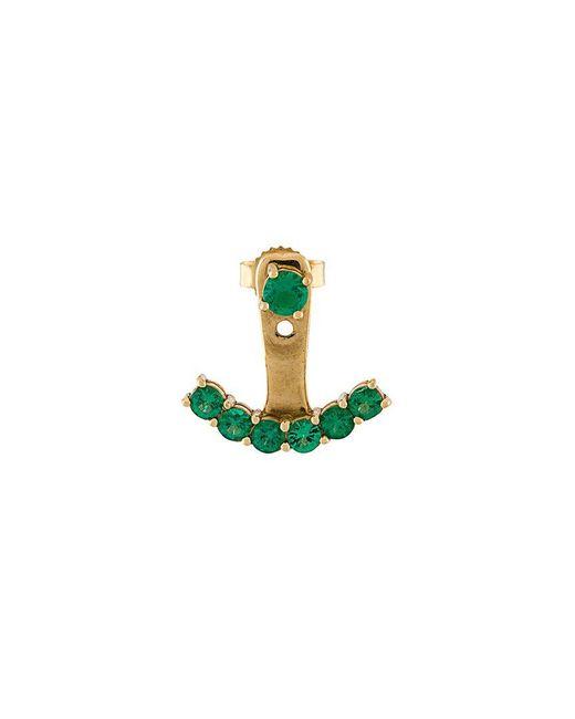 Anita Ko - Green Ear Jacket Earring - Lyst
