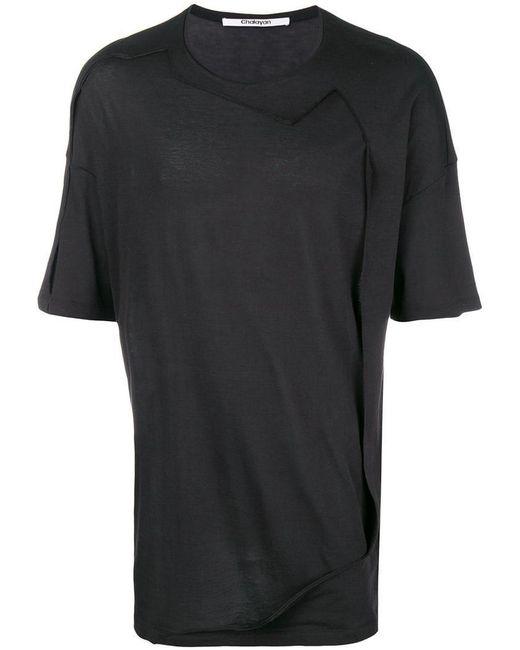 Chalayan - Black T-Shirt mit rundem Ausschnitt for Men - Lyst