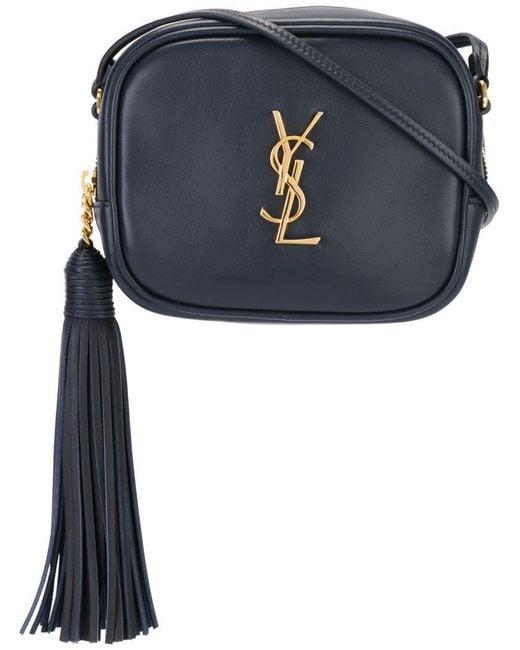 Saint Laurent | Blue Monogram Blogger Leather Cross-Body Bag | Lyst