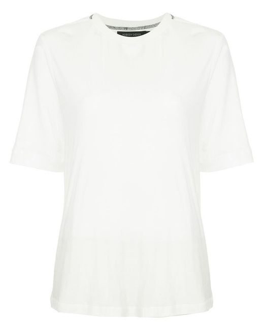 Nobody Denim - White Back Contrast Stitch T-shirt - Lyst