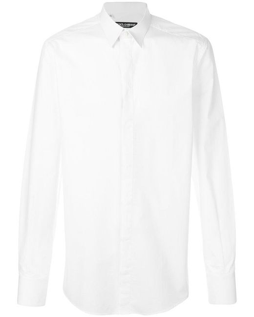 557c55e9696 Lyst - Dolce   Gabbana Classic Shirt in White for Men - Save 45%