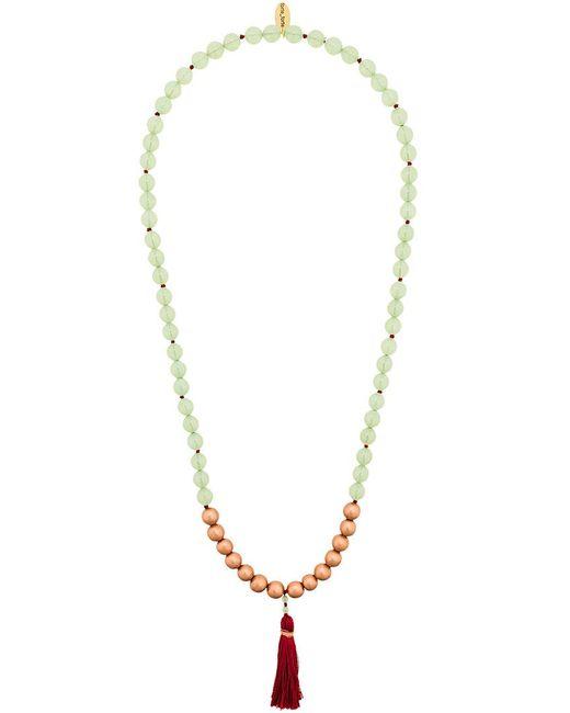 Forte Forte - Green Beaded Tassel Necklace - Lyst