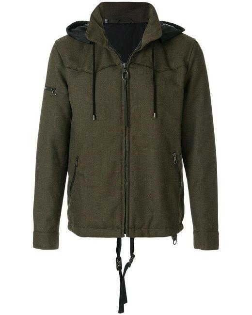 Lanvin   Green Technical Drawstring Jacket for Men   Lyst