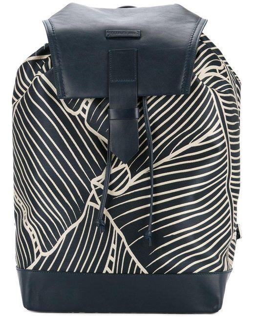 Cerruti 1881 - Blue Geometric Print Backpack for Men - Lyst