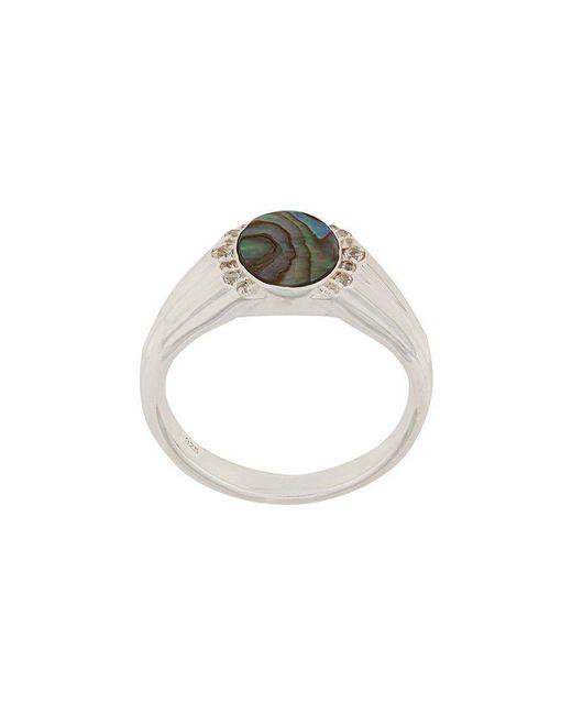 Astley Clarke - Metallic Abalone Luna Signet Ring - Lyst