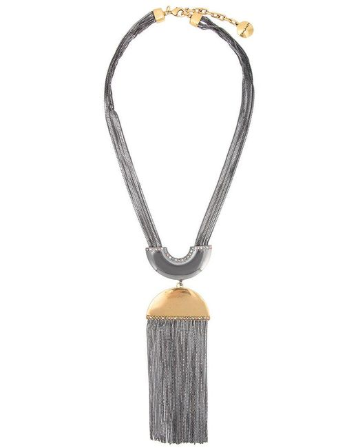 Camila Klein - Metallic Tassel Pendant Necklace - Lyst