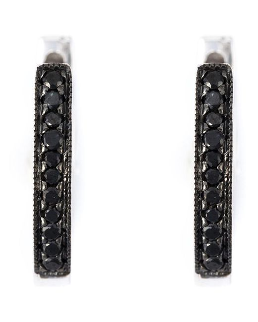 Wouters & Hendrix | Black Diamond Hoop Earrings | Lyst