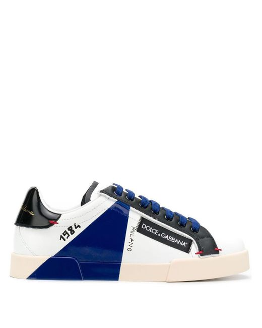 Dolce & Gabbana White Logo Low-top Sneakers for men