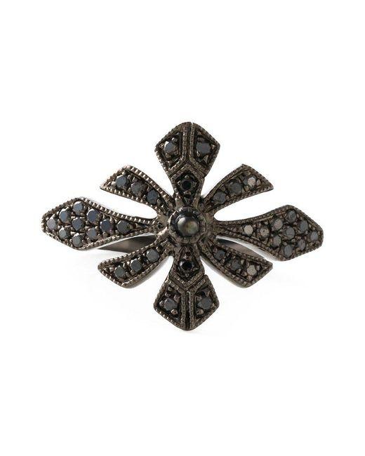 Joelle Jewellery | Black 'antique' Tip Finger Ring | Lyst