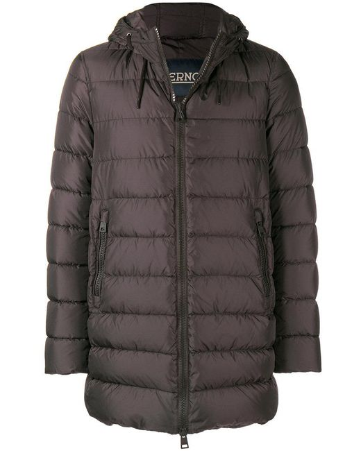 Herno - Brown Hooded Padded Jacket for Men - Lyst