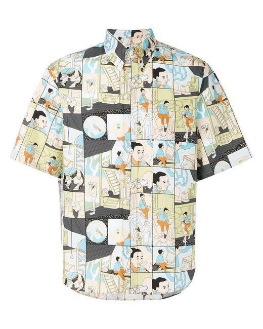 Prada - Multicolor Cartoon Print Shirt for Men - Lyst