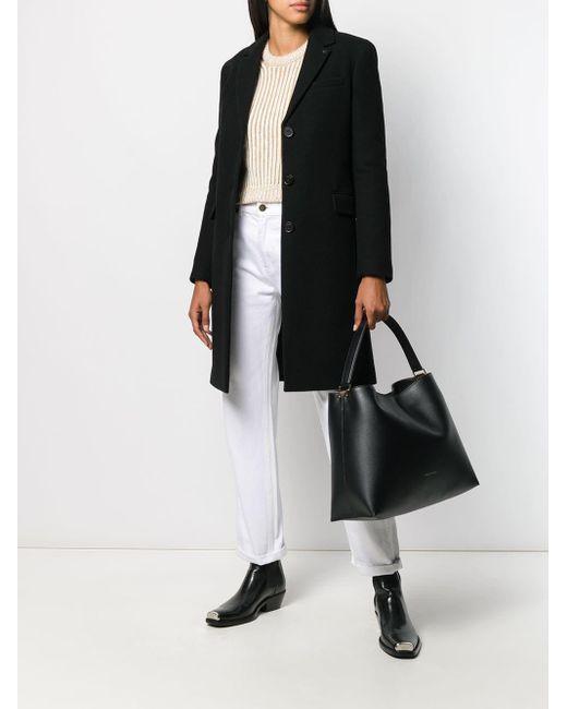 Emporio Armani Black Slouchy Leather Tote