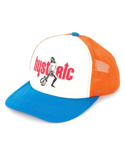 Hysteric Glamour - Blue Colour-block Logo Cap - Lyst