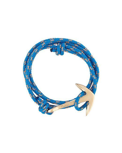 Miansai - Blue Modern Anchor Wrap Bracelet for Men - Lyst