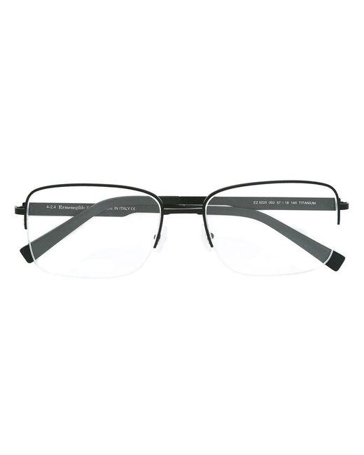 Ermenegildo Zegna | Black Square Frame Glasses for Men | Lyst
