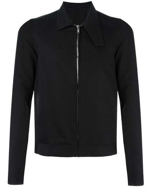 Rick Owens | Black Oblong Collar Jacket for Men | Lyst