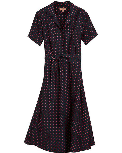 Burberry - Blue Polka-dot Dress - Lyst