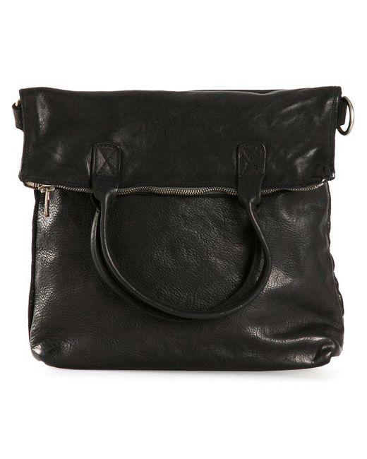 Guidi | Black Distressed Leather Shoulder Bag for Men | Lyst