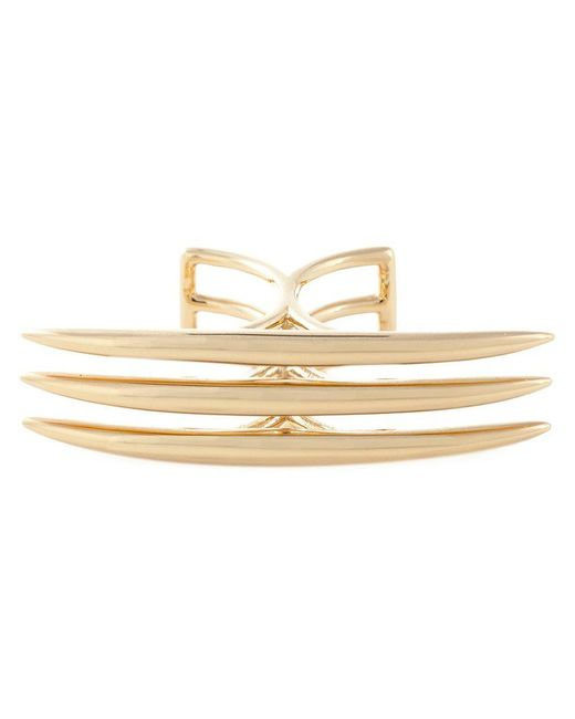 Shaun Leane | Metallic 'quill' Crossover Ring | Lyst