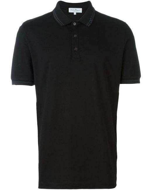 Ferragamo | Black Classic Polo Shirt for Men | Lyst