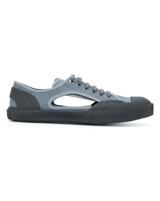 Lanvin - Blue Cutout Sneakers for Men - Lyst