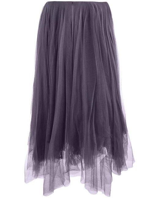 Marc Le Bihan - Purple Tulle Midi Skirt - Lyst