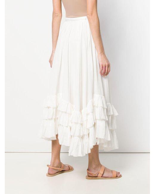 c8bb05427116b ... Polo Ralph Lauren - White Belted Long Skirt - Lyst
