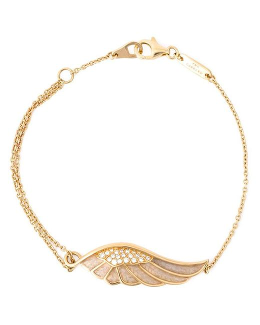 Garrard | Metallic Diamond Detail Wing Bracelet | Lyst