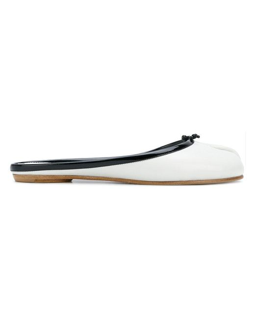 Maison Margiela - White Tabi Slippers - Lyst