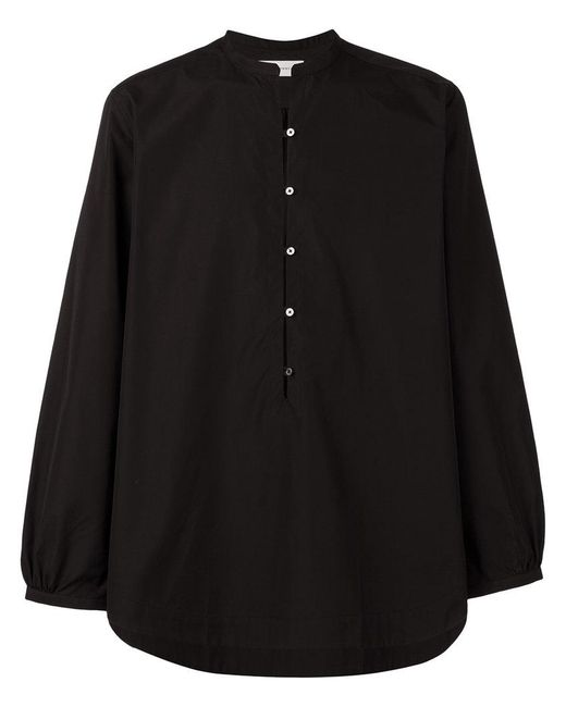 Faith Connexion - Black Collarless Shirt for Men - Lyst