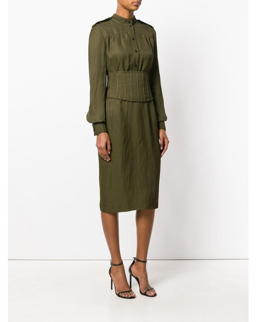 fitted shirt dress - Green Tom Ford