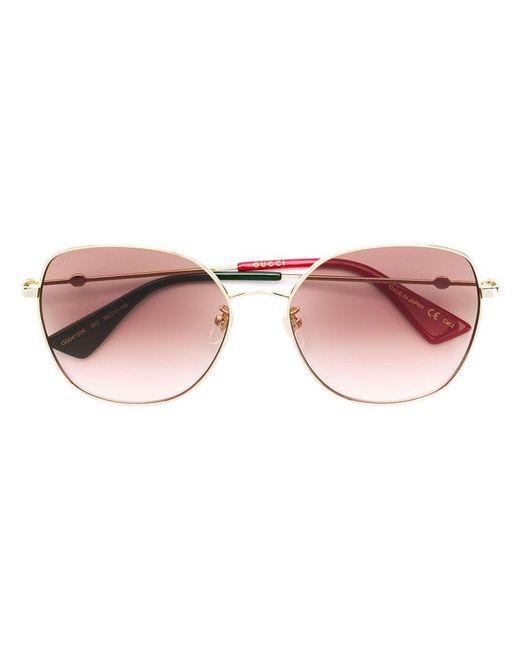 665948977c Gucci - Metallic Square Frame Sunglasses - Lyst ...