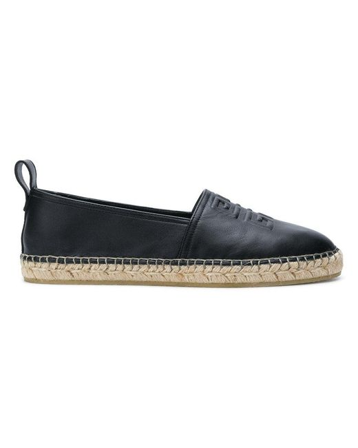 Givenchy - Black Embossed Espadrilles - Lyst