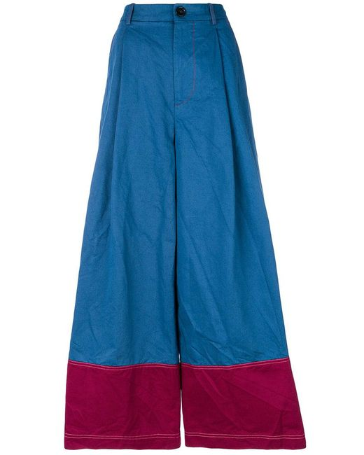 Marni - Blue High Waisted Palazzo Trousers - Lyst