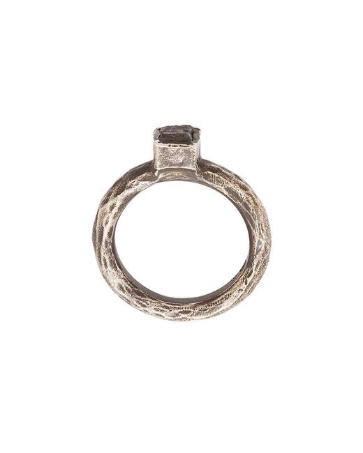 Henson - Metallic Antique-effect Ring for Men - Lyst