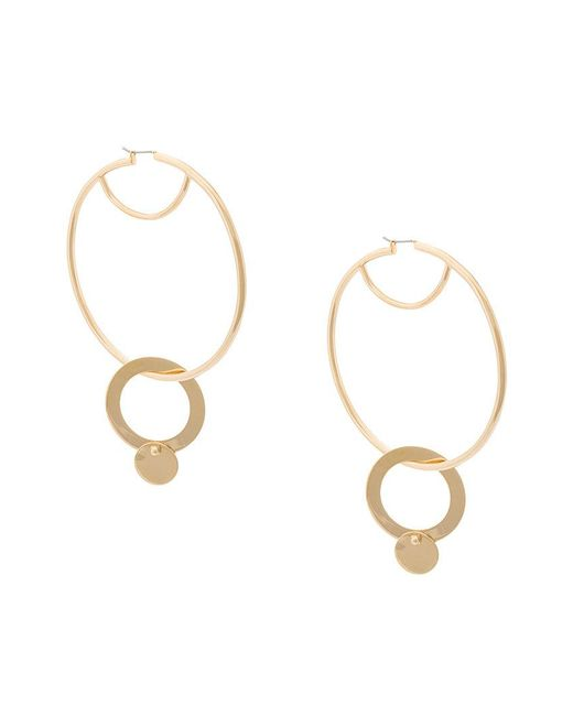 Eddie Borgo - Metallic Hoop And Sphere Drop Earrings - Lyst