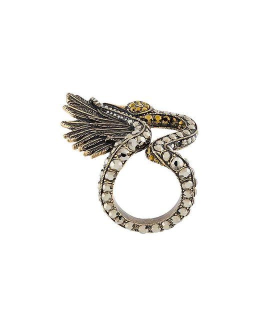 Lanvin | Metallic Crystal Ring | Lyst