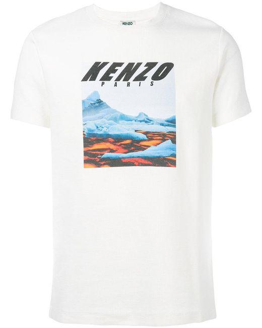 KENZO | White Branded T-shirt for Men | Lyst