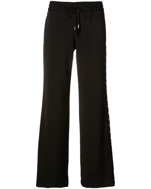 Alice + Olivia - Black Flared Trousers - Lyst