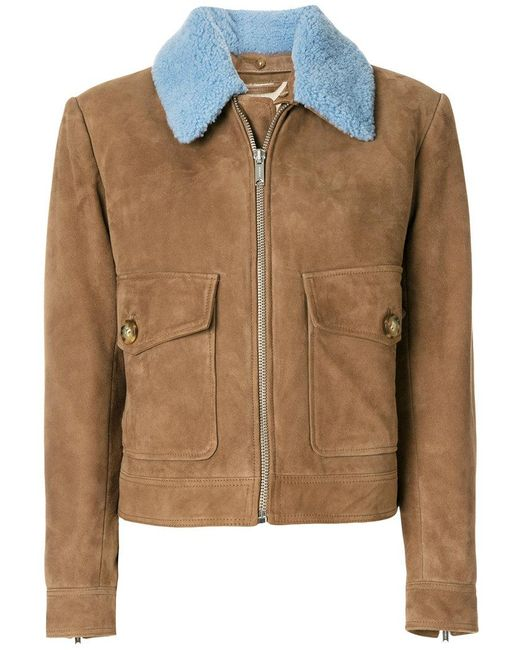 Lyst Dondup Contrast Colour Short Coat In Brown For Men