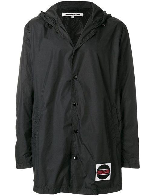 McQ Alexander McQueen - Black Swallow Patch Long Jacket for Men - Lyst
