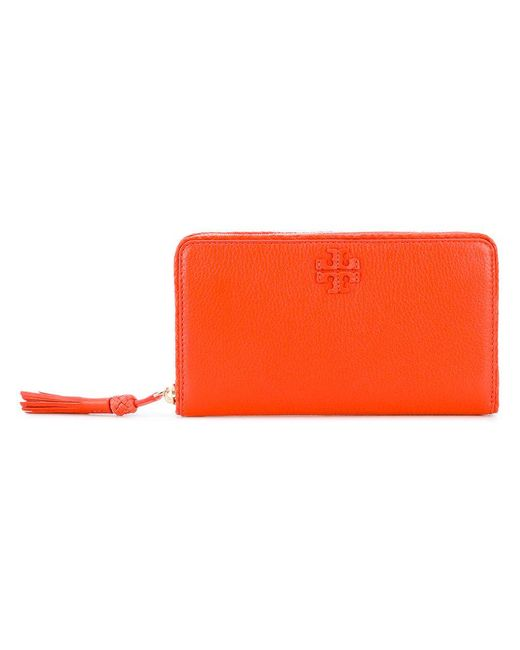 Tory Burch | Orange Tassel Detail Purse | Lyst