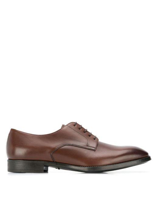 Туфли Оксфорды Giorgio Armani для него, цвет: Brown