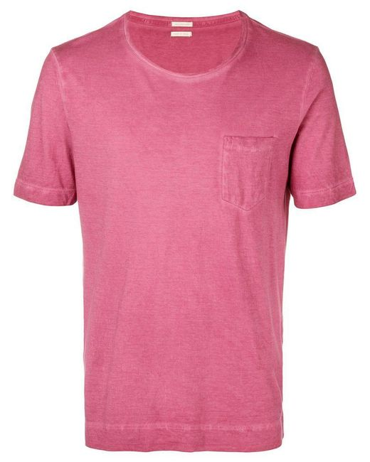 Massimo Alba - Pink Round Neck T-shirt for Men - Lyst