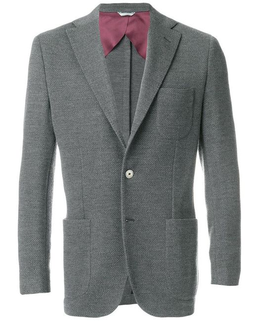 Fashion Clinic Timeless - Gray Blazer Classico for Men - Lyst